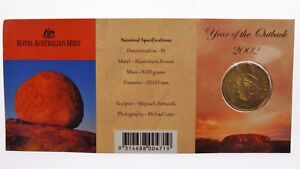 2002 YEAR OF THE OUT BACK ONE DOLLAR C MINT MARK UNCIRCULATED COIN