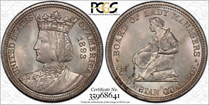 Click now to see the BUY IT NOW Price! 1893 ISABELLA QUARTER MS66 PCGS CAC