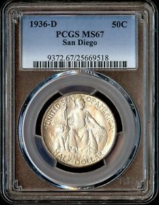 Click now to see the BUY IT NOW Price! 1936 D 50C SAN DIEGO SILVER COMMEMORATIVE PCGS MS 67