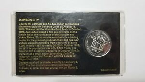 1977 DAWSON CITY DIAMOND JUBILEE YUKON CANADA 75 YEARS COMMEMORATIVE COIN