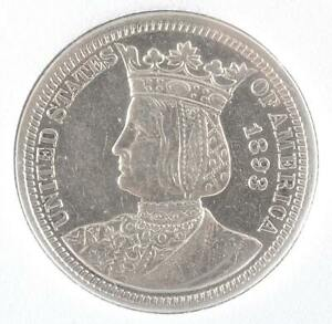 1893 ISABELLA USA SILVER QUARTER GRADED MS62 BY PCGS