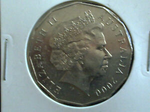 AUSTRALIAN 50 CENT 2000   FINE CIRCULATED