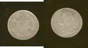 1736/5  SHILLING. ROSES AND PLUMES. . GEORGE II AEF