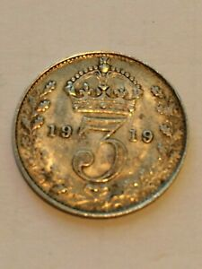1919 MAUNDY G. BRITAIN 3 PENCE