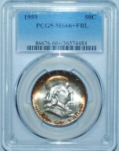 Click now to see the BUY IT NOW Price! 1959 PCGS MS66 FBL FULL BELL LINES FRANKLIN HALF DOLLAR