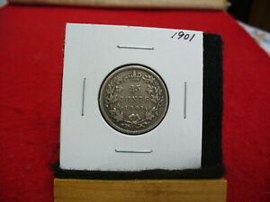 Click now to see the BUY IT NOW Price! 1901  CANADA   SILVER   QUARTER  DOLLAR  25 CENTS   01  NICE GRADE   STERLING