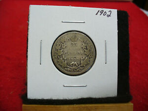 Click now to see the BUY IT NOW Price! 1902  CANADA   SILVER   QUARTER  DOLLAR  25 CENTS   02  NICE GRADE   STERLING