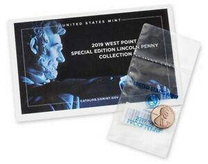 2019 W PROOF LINCOLN CENT  IN SPECIAL FOLDER FIRST WEST POINT CENT MINTED.