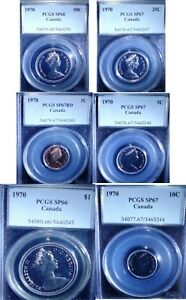 Click now to see the BUY IT NOW Price! 1970 CANADA VIP SPECIMEN COIN SET PCGS 66   68 ALL HIGH GRADE COINS