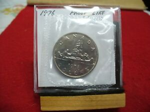 1976  CANADA  NICKEL  DOLLAR  COIN   TOP GRADE    76   PROOF LIKE  SEALED