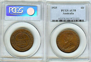 Click now to see the BUY IT NOW Price! AUSTRALIAN PENNY 1925 PCGS AU58