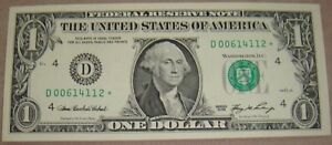 $1.00 STAR NOTE CLEVELAND FRD SERIES 2006  F 1933 D  640K PRODUCED D00614112