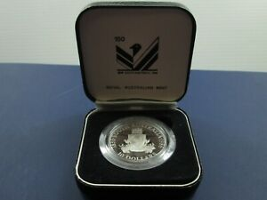 SOUTH AUSTRALIA 10 DOLLARS COMMEMORATIVE SILVER PROOF   WITH CASE  NO COA