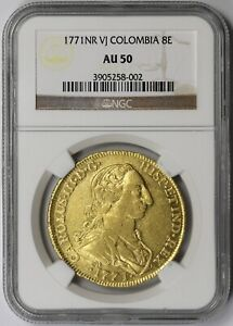 Click now to see the BUY IT NOW Price! 1771 NR VJ COLOMBIA 8E GOLD AU 50 NGC 8 ESCUDOS