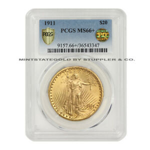 Click now to see the BUY IT NOW Price! ULTRA  1911 $20 GOLD SAINT GAUDENS PCGS MS66  PQ APPROVED DOUBLE EAGLE GEM