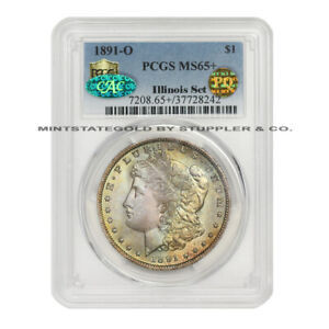 Click now to see the BUY IT NOW Price! 1891 O $1 SILVER MORGAN PCGS MS65  PLUS GRADED CAC CERTIFIED PQ APPROVED COIN