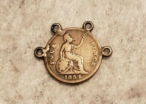 1854 GREAT BRITAIN SILVER FOUR PENCE COIN
