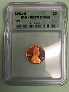 Click now to see the BUY IT NOW Price! 1981 S LINCOLN SMALL CENT ICG PR70 DCAM NGC  PRICE GUIDE $4000