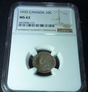 Click now to see the BUY IT NOW Price! 1932  CANADA 10  CENTS    NGC MS62