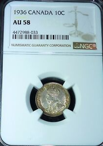 Click now to see the BUY IT NOW Price! 1936  CANADA 10  CENTS    NGC AU58