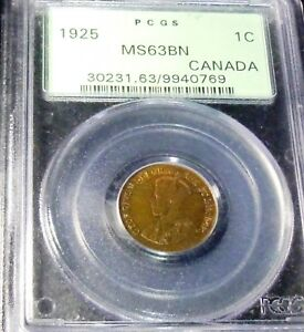 Click now to see the BUY IT NOW Price!  1925 CANADA  CENT  PCGS MS63