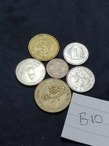 NICE WORLD MIXED COIN LOT MIXED DATES  COLLECTABLE FROM EARTH THE FLAT ONE  B10