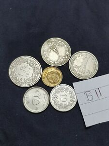 NICE WORLD MIXED COIN LOT MIXED DATES  COLLECTABLE FROM EARTH THE FLAT ONE  B11