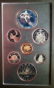1983 CANADA DOUBLE $$ EDMONTON PROOF SET  SILVER  ORIGINAL PACKAGE & COA    E