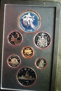 1983 CANADA DOUBLE $$ EDMONTON PROOF SET  SILVER  ORIGINAL PACKAGE & COA    D