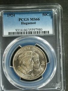 Click now to see the BUY IT NOW Price! 1924 HUGUENOT COMMEMORATIVE SILVER HALF $   MS66  PCGS    STK7980