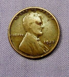 1927 S  SAN FRANCISCO MINT LINCOLN WHEAT CENT              90419193