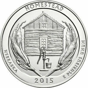 2015 5 OZ AMERICA THE BEAUTIFUL ATB HOMESTEAD SILVER COIN .999 FINE