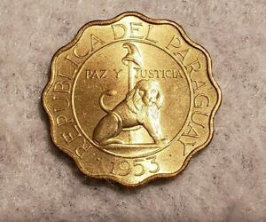 1953 PARAGUAY 50 CENTIMOS COIN