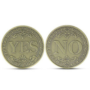 COMMEMORATIVE COIN FLORAL YES NO LETTER ORNAMENTS COLLECTION ART GIFT SOUVENIRPL