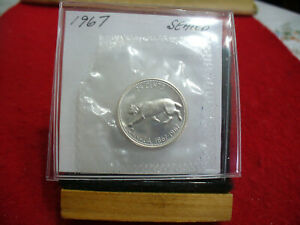 Click now to see the BUY IT NOW Price! 1967 CANADA SILVER QUARTER  DOLLAR TOP GRADE    67  PROOF LIKE  SEALED