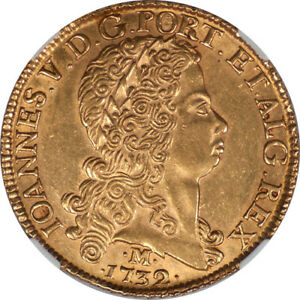 Click now to see the BUY IT NOW Price! BRAZIL 1732 JOAO GOLD 12800 REIS NGC AU 58 LY UNDERGRADED