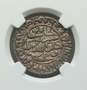 Click now to see the BUY IT NOW Price! AH 949 AD 1542/3  INDIA SULTANS OF DELHI SILVER RUPEE NGC AU DETAILS