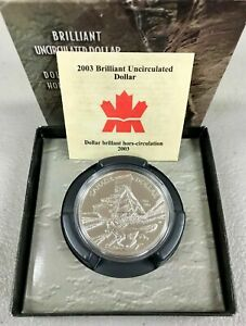 2003 CANADA BRILLIANT UNCIRCULATED DOLLAR HORS CIRCULATION W/ BOX & COA