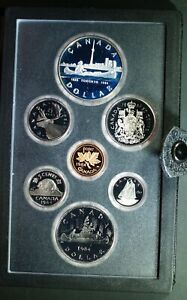 1984 CANADA DOUBLE DOLLAR PROOF SET   TORONTO    ORIGINAL PACKAGING & COA