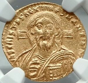 Click now to see the BUY IT NOW Price! JUSTINIAN II 1ST JESUS CHRIST PORTRAIT ANCIENT BYZANTINE GOLD COIN NGC CHOICE AU