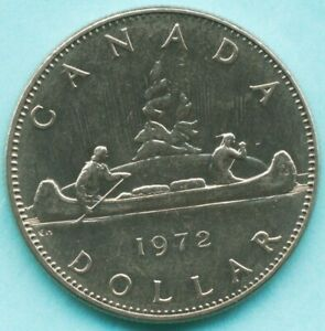 CANADA   1972  ONE DOLLAR COIN   QUEEN ELIZABETH II