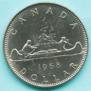 CANADA   1968  ONE DOLLAR COIN   QUEEN ELIZABETH II