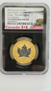 Click now to see the BUY IT NOW Price! 2018 CANADA 1 OZ GOLD INCUSE MAPLE LEAF REVERSE PROOF NGC PF70 ER 30TH ANNIVER
