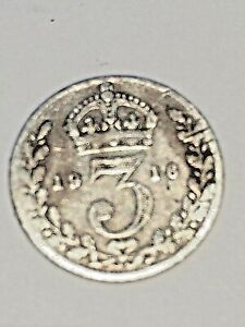 1916 MAUNDY G. BRITAIN 3 PENCE