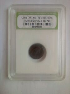 SLABBED ANCIENT ROMAN CONSTANTINE THE GREAT COINS C 330 AD