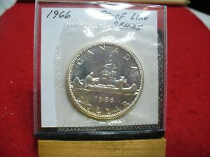 Click now to see the BUY IT NOW Price! 1966  CANADA  SILVER  DOLLAR  1$   HIGH   GRADE    66    PROOF  LIKE    SEALED