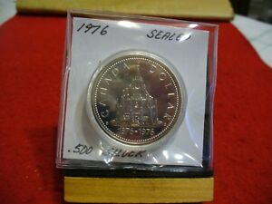 Click now to see the BUY IT NOW Price! 1976   CANADA  SILVER   ONE  DOLLAR  COIN   1$   HIGH  GRADE   76   SEALED