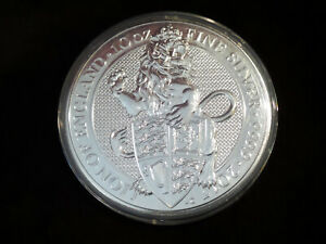 2017 GREAT BRITAIN QUEEN'S BEASTS THE LION 10 OZ .9999 SILVER COIN BU W/ CAPSULE