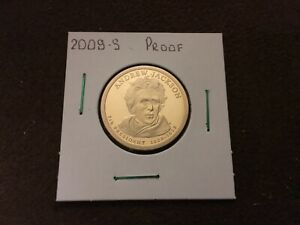 2008 S PROOF ANDREW JACKSON PRESIDENTIAL DOLLAR COIN   FROM US MINT SET