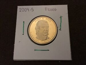2009 S PROOF JAMES K. POLK PRESIDENTIAL DOLLAR COIN   FROM US MINT SET